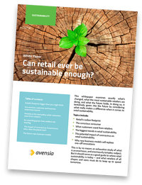 White Paper: Can retail ever be sustainable enough